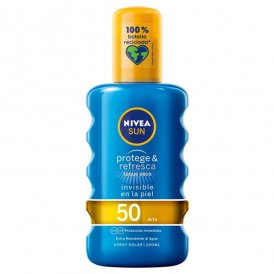 Spray solskydd Protege & Refresca Nivea Spf 50 (200 ml)