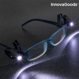 InnovaGoods 360º LED Clip for Glasses (Pack of 2)
