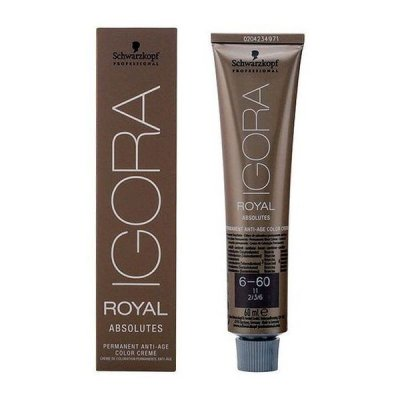 Permanent Anti-Ageing Dye Igora Royal Absolutes Schwarzkopf Nº 6-60