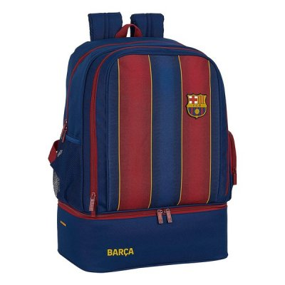 Sportväska med skohållare F.C. Barcelona 20/21 Rödbrun Marinblå
