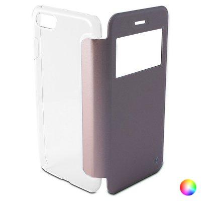 Folio-fodral för mobil Iphone 8/7 KSIX Crystal View (Färg: Svart)