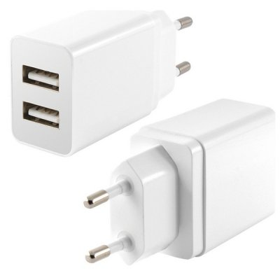 Väggladdare KSIX 2 USB 2.4A Vit