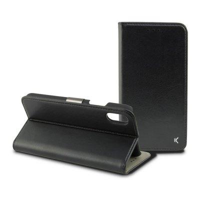 Folio-fodral för mobil Iphone Xs Max KSIX Svart