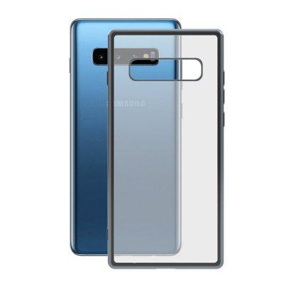Mobilfodral Samsung Galaxy S10+ KSIX Flex Metal TPU Transparent Grå Metallic